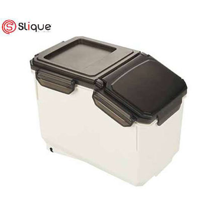 Picture of SLIQUE Rice Storage Container 10kg Airtight Rice Sealed Box with BPA Free Plastic and Insert-Proof Box, Dry Food Storage Containers- Best Birthday Gift/Anniversary Gift./Wedding Gift/Fathers Day Gift