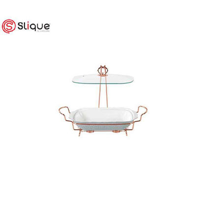Picture of SLIQUE Casserole Serving Dish with 2 Burners