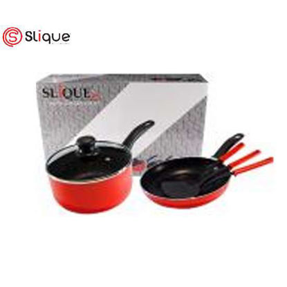 Picture of SLIQUE Induction Cookware SET OF 6 - Red