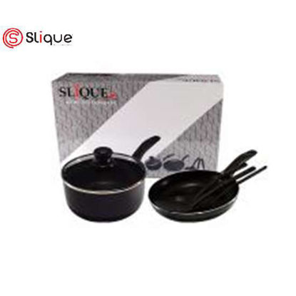 Picture of SLIQUE Induction Cookware SET OF 6 - Black