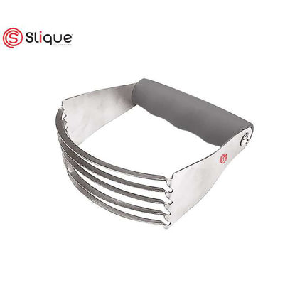 Picture of SLIQUE Premium Dough Blender, Pastry Cutter with Heavy Duty Stainless Steel Blades Baking Accessories