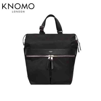 "Picture of Knomo Gilbert 3-Way 14"" Convertible Tote - Black"