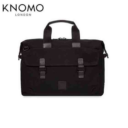 "Picture of Knomo Tournay 15"" Topload Briefcase - Black"