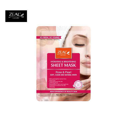 Picture of ZEAL Premium Sheet Mask Skin Care Rose & Pearl Soft, Clear & Natural White Sheet Mask 25ml
