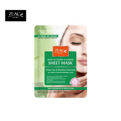 Picture of ZEAL Premium Sheet Mask Skin Care Green Tea & Bamboo Charcoal Sheet Mask 25ml
