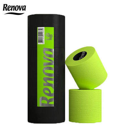 Picture of Renova Carboard Tubes Toilet Paper 3 Rolls Green