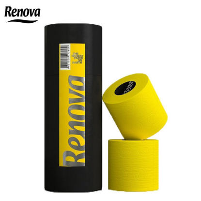 Picture of Renova Carboard Tubes Toilet Paper 3 Rolls Yellow