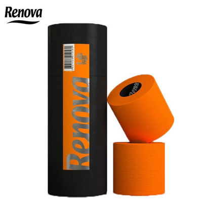 Picture of Renova Carboard Tubes Toilet Paper 3 Rolls Orange
