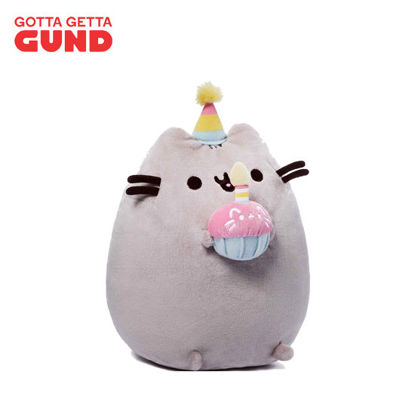 "Picture of GUND Pusheen Snackables Birthday Cupcake Plush Stuffed Animal 10.5"""