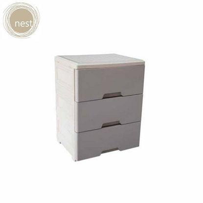 Picture of NEST DESIGN LAB Multi-purpose heavy duty storage 3 Layer cabinet