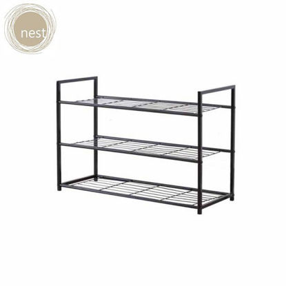 Picture of NEST DESIGN LAB 3 Layer Meshed Steel Shoe Rack