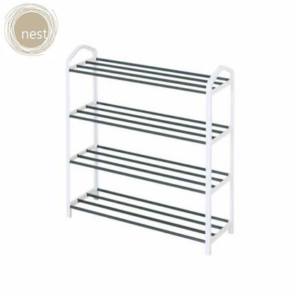 Picture of NEST DESIGN LAB 4 Layer shoe rack - White