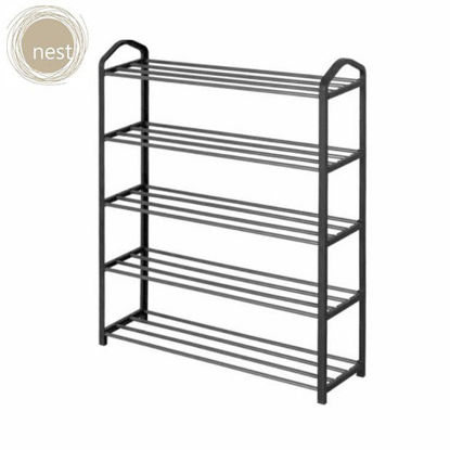 Picture of NEST DESIGN LAB 5 Layer Shoe rack- Black