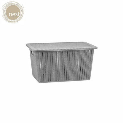 Picture of NEST DESIGN LAB 12L Knit Basket with Lid