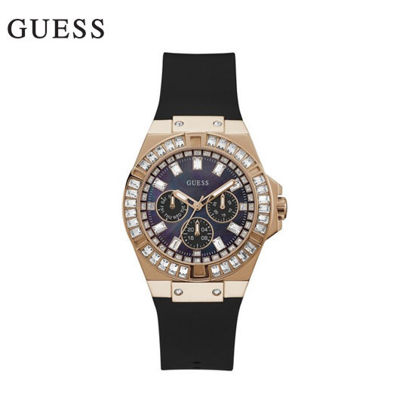 Picture of Guess Venus Rose Gold Tone With Black Strap Wristwatch for Women GW0118L2