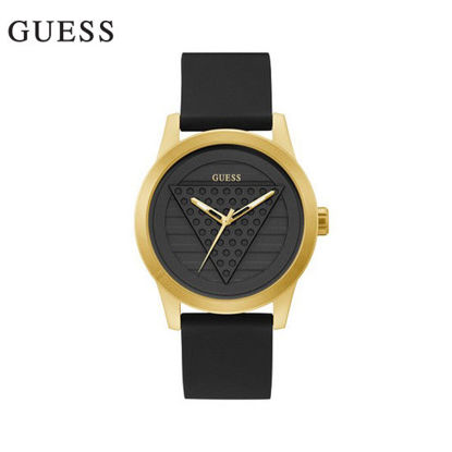 Picture of Guess Driver Black Rubber Watch For Men GW0200G1