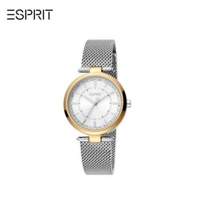 Picture of Esprit Zea Gold Dial Silver Mesh Strap 3EES1L251M0075