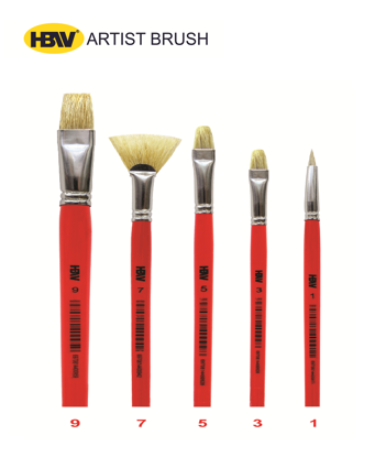 Picture of Artist Brush Hog Bristle - 20579A #9