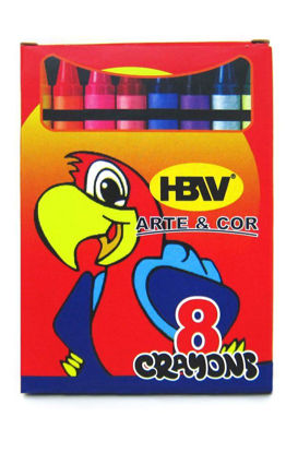Picture of Hbw Arte & Cor Crayons 8 (Assorted Color)