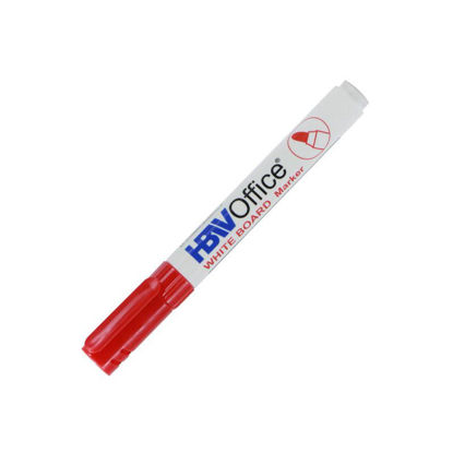 Picture of Hbw White Board Marker Refillable Red