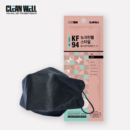 Picture of 5 piece Cleanwell Black KF94 Respiratory Nano Mask