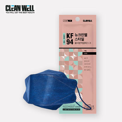 Picture of 5 Piece Cleanwell Navy KF94 Respiratory Nano Mask