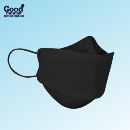 Picture of 5 Piece Black Good Manner KF94 Respirator Face Mask