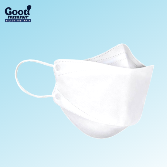 Picture of 5 Piece White Good Manner KF94 Respirator Face Mask