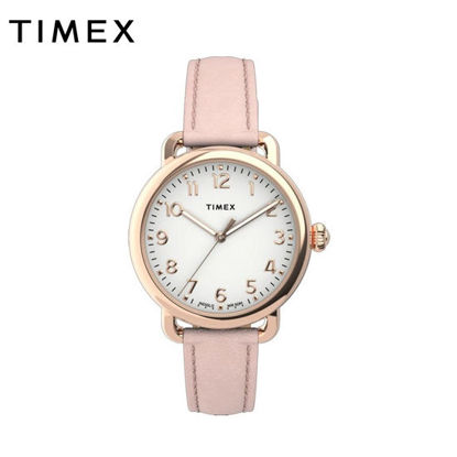 Picture of Timex Standard 34mm Leather Strap Watch for Women TW2U13500