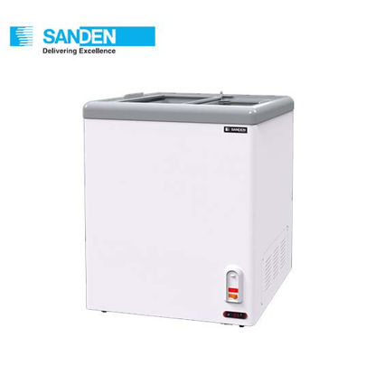 """Picture of Sanden 3.5""""Cuft Flat Glass Chest Freezer (100Liters) Sng-0105"""