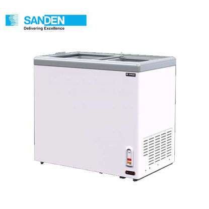 "Picture of Sanden 7.8""Cuft Flat Glass Chest Freezer (220Liters) Sng-0225"