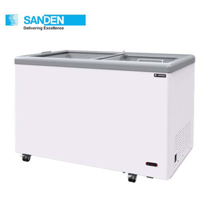 """Picture of Sanden 21.2""""Cuft Flat Glass Chest Freezer (600Liters) Sng-0605"""