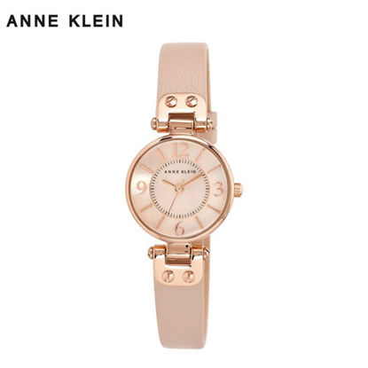 Picture of Anne Klein Rose Gold Watch With Lt Pink Leather Strap