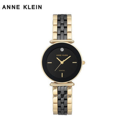 Picture of Anne Klein Gold And Black Ceramic Watch