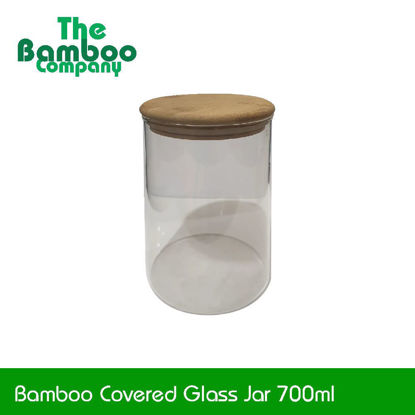 Picture of Bamboo Glass Jar
