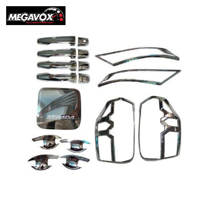 Picture of Megavox Car Accessories Mitsubishi Strada Triton 2019-2020 Chrome Combo Set