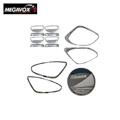 Picture of Megavox Car Accessories Mitsubishi Mirage Hatchback 2019-2020 Chrome Combo Set
