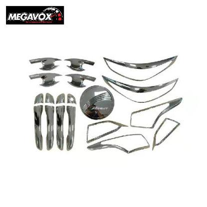 Picture of Megavox Car Accessories Hyundai Accent Sedan 2019-2020 Chrome Combo Set
