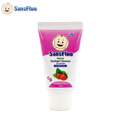 Picture of SansFluo Natural Toothgel Cleanser (Strawberry)