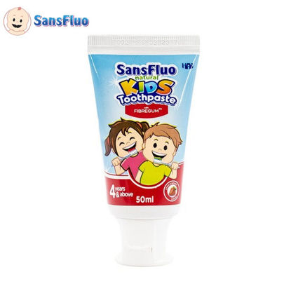 Picture of SansFluo Natural Kids Toothpaste (Strawberry Creme)