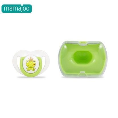 Picture of Mamajoo Silicone Orthodontic Soother & Storage Box Prince FrogGreen