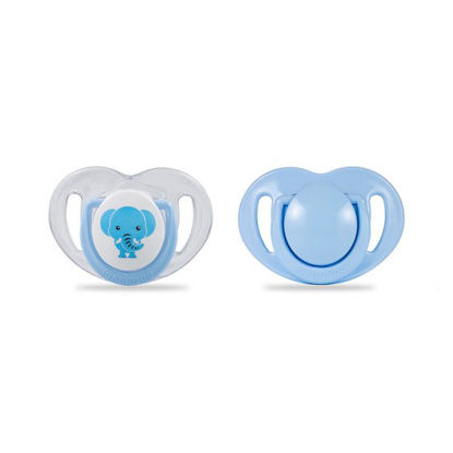 Picture of Mamajoo Silicone Orthodontic Soother ElephantBlue 0+months 2pcs