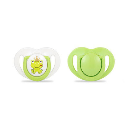 Picture of Mamajoo Silicone Orthodontic Soother Prince FrogGreen 0+months 2pcs
