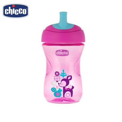Picture of Chicco Advanced Straw Trainer Sippy Cup for Toddlers 12 mos+ PinkLlama