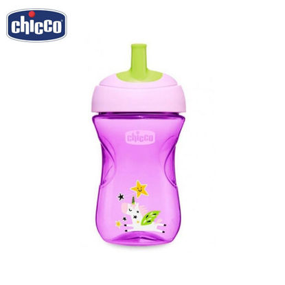 Picture of Chicco Advanced Straw Trainer Sippy Cup for Toddlers 12 mos+ PurpleUnicorn