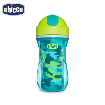 Picture of Chicco Insulated Spill-proof Straw Sport Cup (Sippy Cup) 14m+ Green