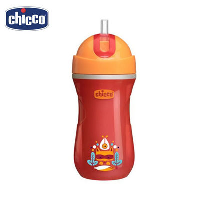Picture of Chicco Insulated Spill-proof Straw Sport Cup (Sippy Cup) 14m+ Orange