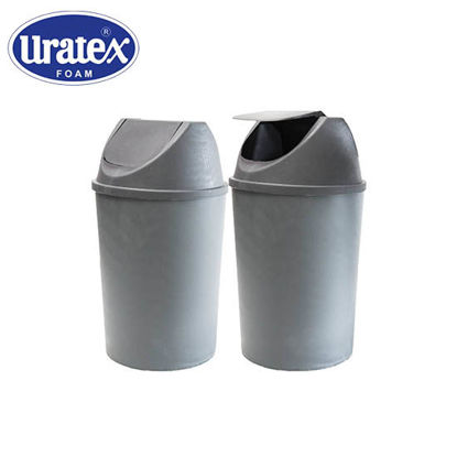 Picture of Uratex Monoblock 3101 Trash Bin Gray