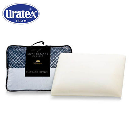 Picture of Uratex Soft Escape Classic Pillow 7 x 20 x 26 (Standard) White