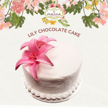 "Picture of Manna 9"" Lily Chocolate Cake"